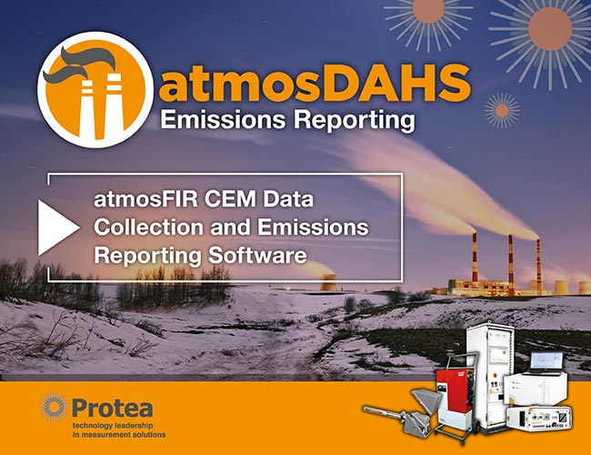 atmosDAHS - CEM Emissions Reporting Software – MCERTS Approved