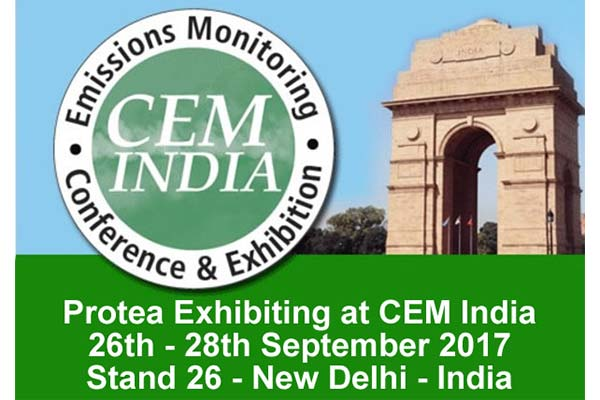 Protea, Exhibiting, CEM India, 2017, Conference & Exhibition, Emissions Monitoring