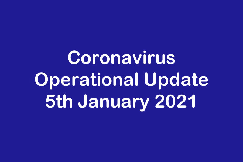 January 2021 - Operational Update for Coronavirus COVID 19 & Protea